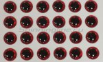 Stinger - Глазки 3D Eyes 8мм red - фотография 1