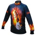 Fishycat - Футболка с длинным рукавом Fire Deepcat T-Shirt L - фотография 1