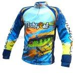 Fishycat - Футболка с длинным рукавом Tomcat Style Light Blue T-Shirt XXL - фотография 1